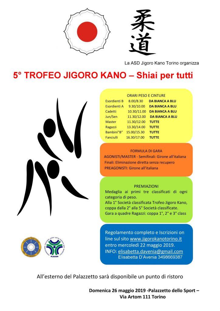 Locandina Trofeo Jigoro Kano Torino 2019